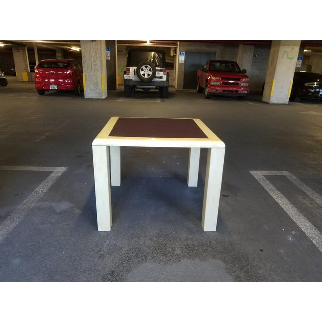 Cream 1970's Tessellated Bone Gaming Table For Sale - Image 8 of 12