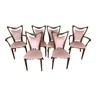 Amazing Mid Century Modern Hollywood Regency Dining Chairs, Set 6 For Sale