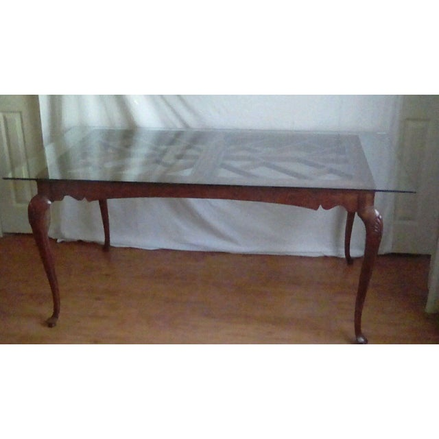1980s 20th Century French Country Dining Table For Sale - Image 5 of 11