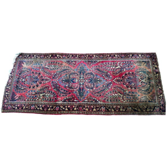 1920s Hand-Knotted Runner - 2′ × 6′ - Image 1 of 11