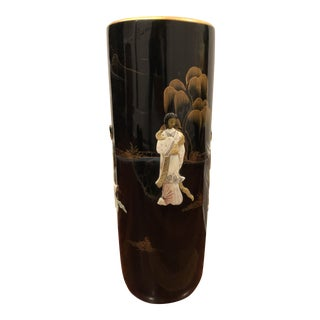 Chinoiserie Asian Style Umbrella Stand For Sale