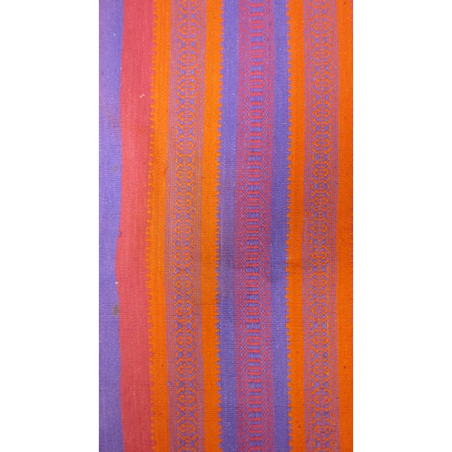 "Orange & Pink Woven Rug- 3'4"" X 6' - Image 6 of 7"