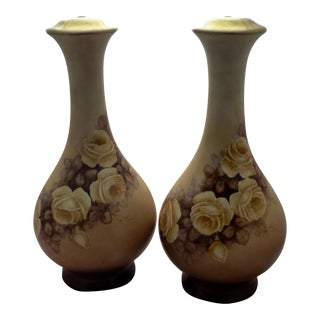 Antique Limoges Lamp Bases - A Pair For Sale