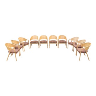 Modern Peter Shelton and Lee Mindel for Knoll Shelton Mindel Side Chairs- Set of 10 For Sale