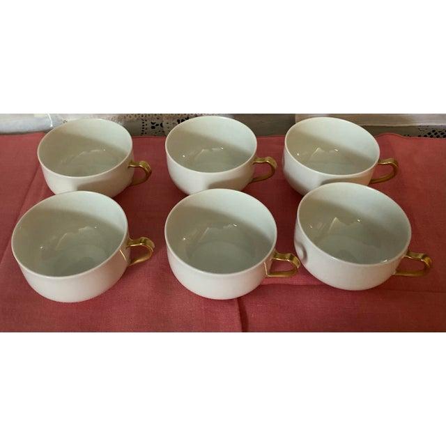 1930s Haviland & Co Limoges France Porcelain Cups - Set of 6 For Sale In Houston - Image 6 of 9