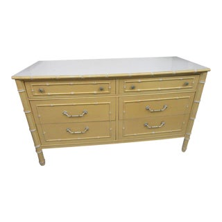 Vintage Palm Beach Faux Bamboo Double Dresser