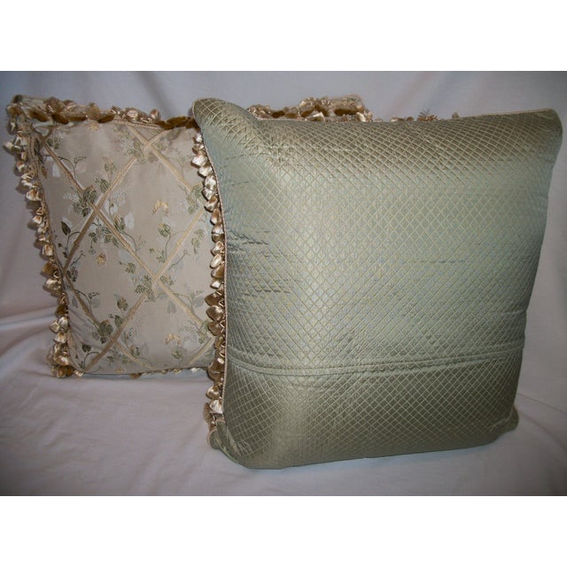 """Scalamandre """"Butterfly & Trellis"""" Pillows - A Pair For Sale - Image 4 of 8"""