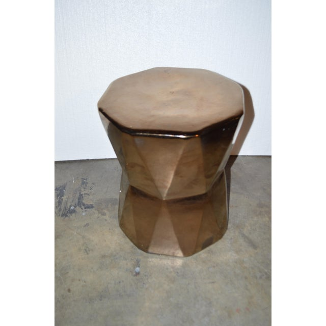 Gold Geometric Side Table - Image 3 of 4