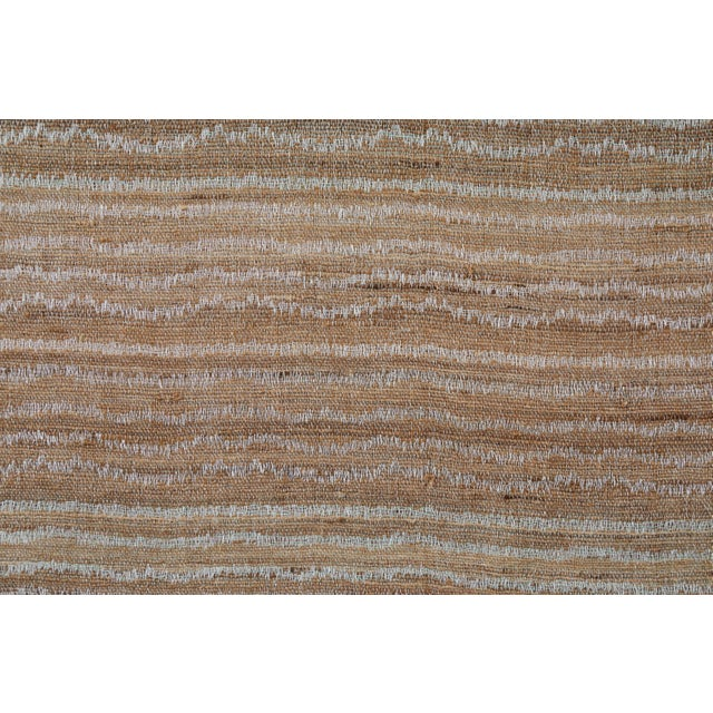 Indian Handwoven Bedcover Small Ocean Stripe For Sale - Image 4 of 5