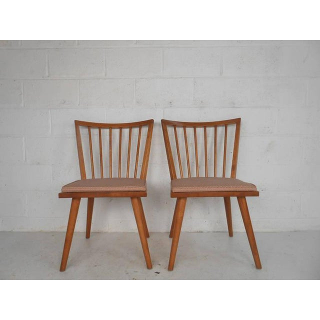 Leslie Diamond for Conant-Ball Mid-Century Chairs - Set of 4 For Sale In New York - Image 6 of 11