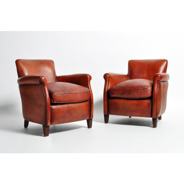 French Leather Armchairs - a Pair For Sale - Image 13 of 13