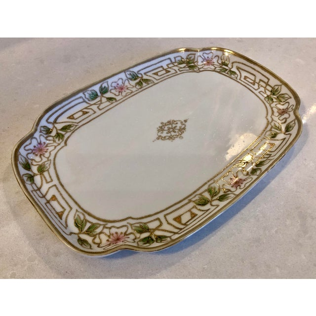 Traditional Morimura Nippon Moriage Dressing Table Tray For Sale - Image 3 of 11