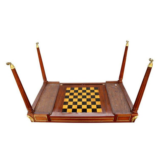 Fine Louis XVI Mahogany and Ormolu Mounted Tric Trac Table For Sale - Image 9 of 12