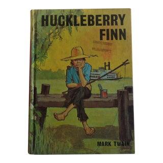 1960s Vintage Huckleberry Finn Book by Mark Twain For Sale