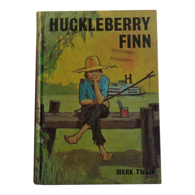 1960s Vintage Huckleberry Finn Book by Mark Twain For Sale