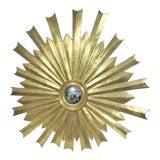 Image of Hollywood Regency Gold Gilt Sunburst Carved Mirror For Sale