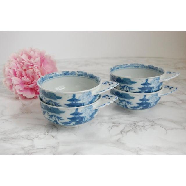 Mottahedeh Blue Canton Porringer Bowls - Set of 4 - Image 6 of 6