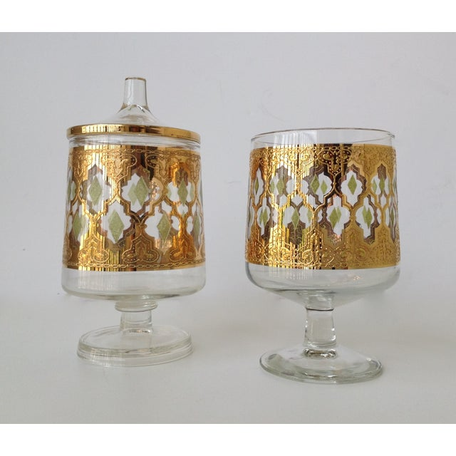 "Culver ""Valencia"" Gilt Footed Containers - Pair - Image 9 of 9"