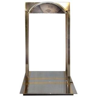 1970's Chrome & Brass Modernist Desk Lamp For Sale