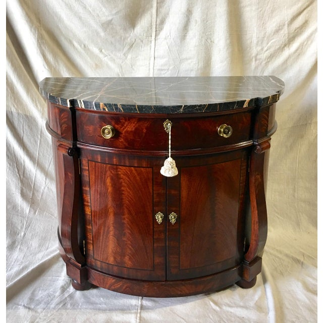 Henredon Natchez Demilune Console With Marble Top For Sale - Image 11 of 11