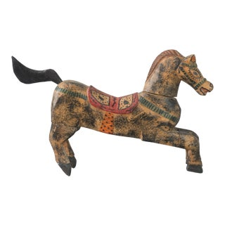 1920s Vintage Folk Art Horse Statue For Sale