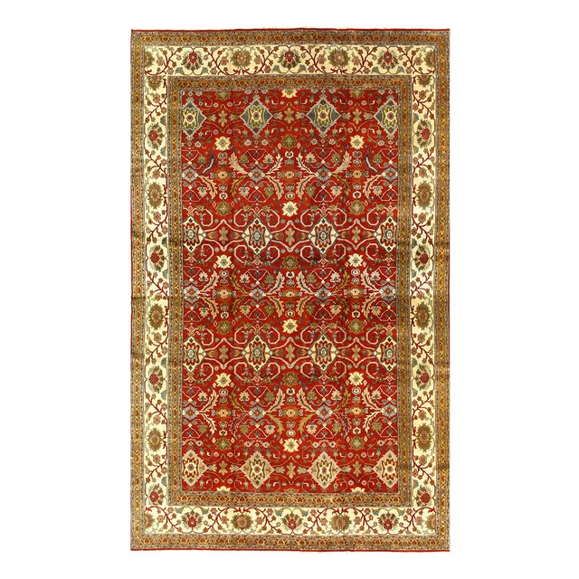 All over Serapi design rug. Hand-knotted in fine lambswool. Originates from India. This rug has a dense, soft pile, and...