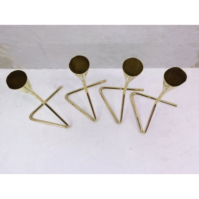 Mid-Century Modern Mid-Century Aubock Candlesticks - Set of 4 For Sale - Image 3 of 6