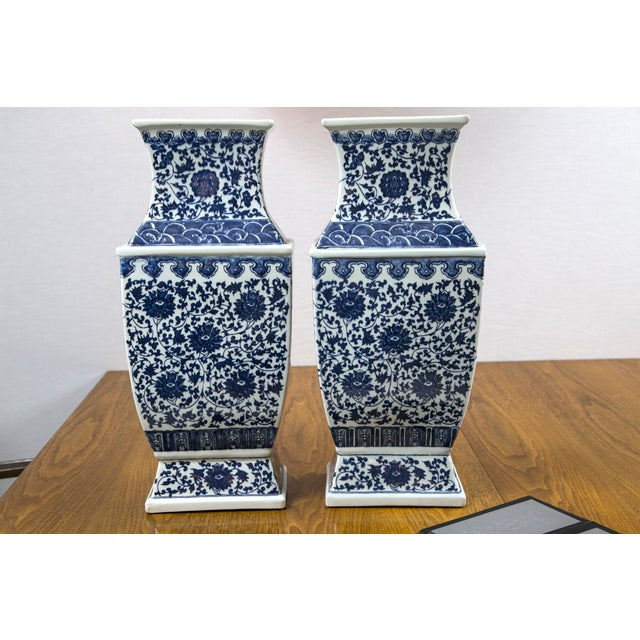Blue & White Chinese Ginger Vases - A Pair - Image 2 of 7