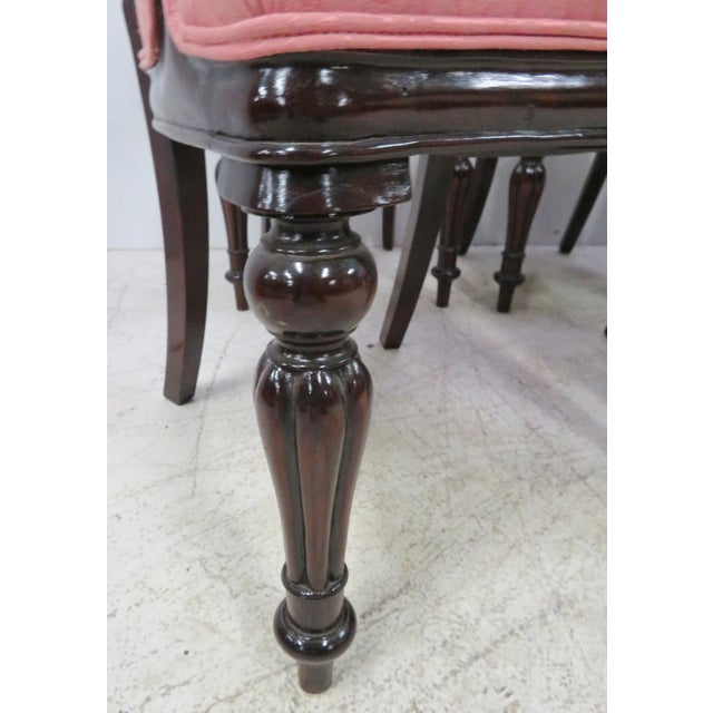 English Victorian Mahogany Balloon Back Style Dining Chairs - Set of 8 For Sale In Philadelphia - Image 6 of 8