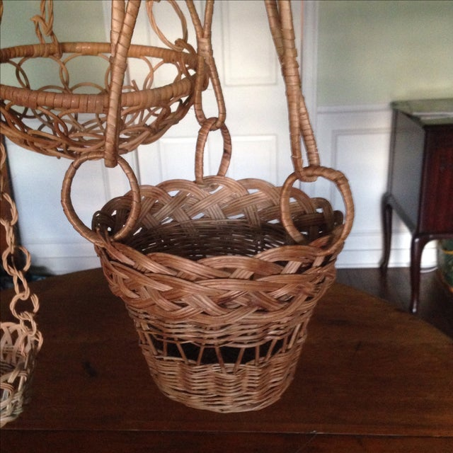 Vintage Plant Hanging Baskets - S/3 - Image 3 of 7