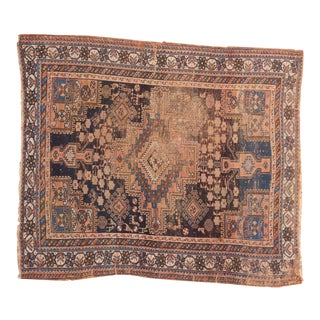 "Antique Afshar Square Rug - 4'6"" x 5'2"""
