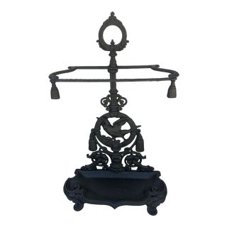 Olde English Cast Iron Umbrella or Cane Stand For Sale