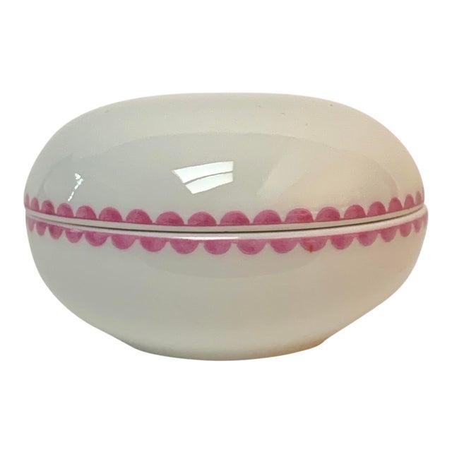 Richard Ginori Italian Porcelain Trinket Box For Sale