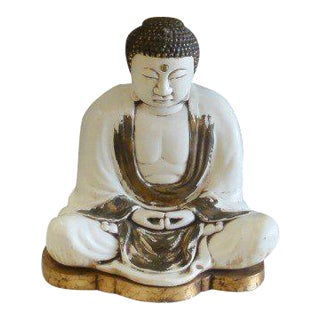 Meditating Buddha Lamp with Shade For Sale