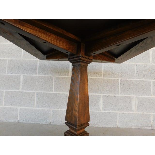 Brown Romweber Viking Oak Pedestal Game or Dinner Table 32 X 32 For Sale - Image 8 of 9