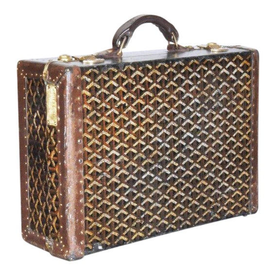 19th Century Traditional Goyard Suitcase For Sale