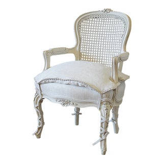20th Century French Style Louis XV Cane Back Childs Chair For Sale