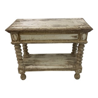 19th Century Rustic European Console Table For Sale
