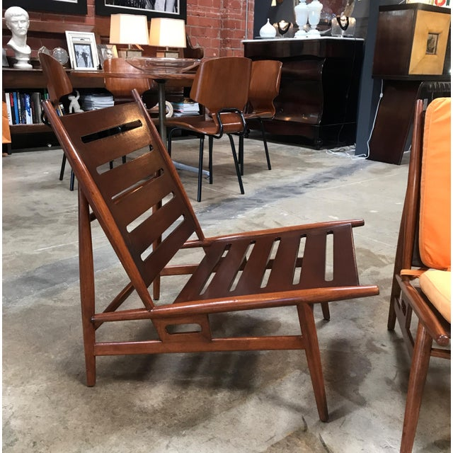 1960s Pair of ISA Italian Club Chairs For Sale - Image 5 of 10