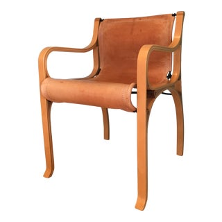 Saddle Leather 'Chair B' by Cristian Valdes For Sale