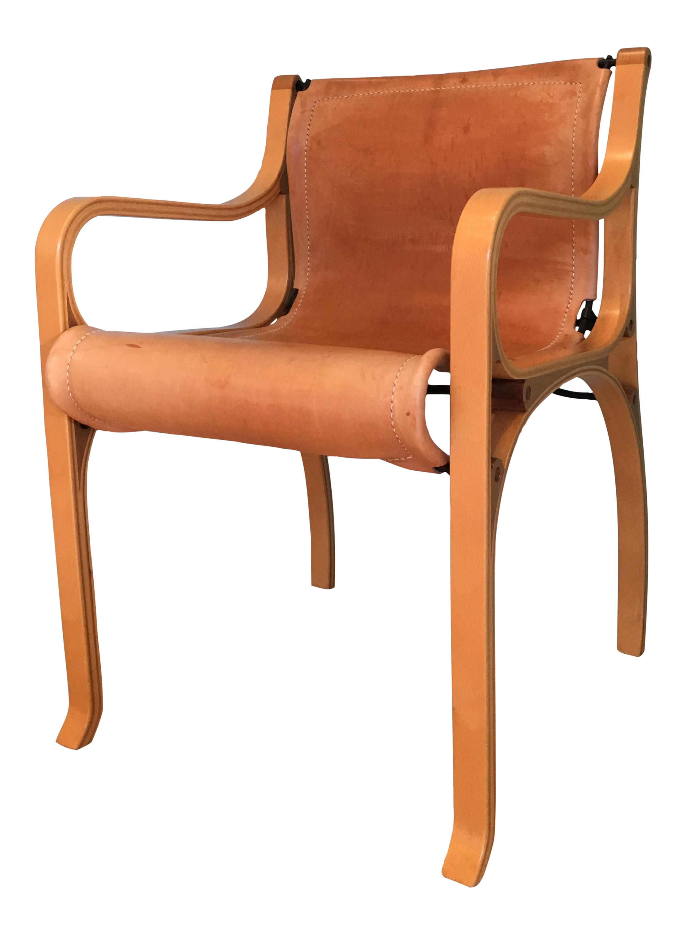 Superbe Saddle Leather U0027Chair Bu0027 By Cristian Valdes