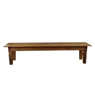 "Reclaimed Wood Dining Bench ""Chinese Feet"" 79"" Long"
