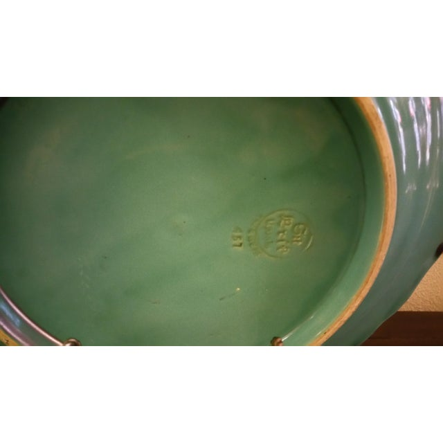 Swedish Art Deco Turquoise Serving Plate For Sale - Image 4 of 6