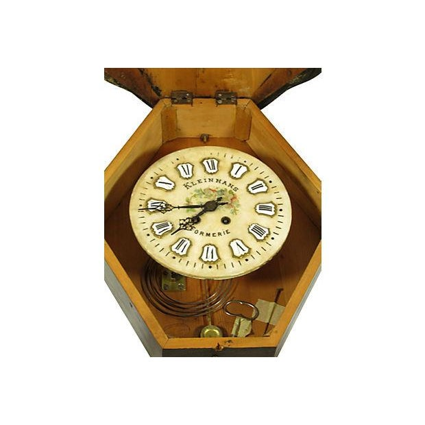 19th-Century Antique French Shop Clock For Sale - Image 4 of 5