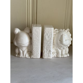 Vintage Ceramic Frog & Lion Bookends-Set of Two Preview