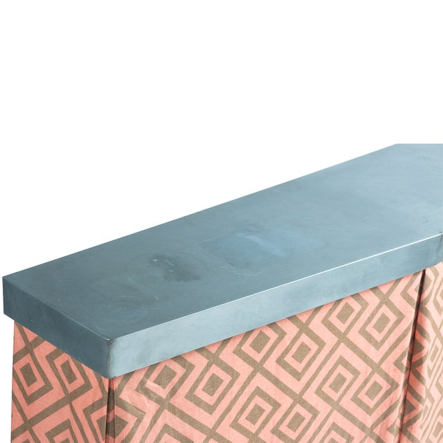 Zinc Top Console Table - Image 4 of 5