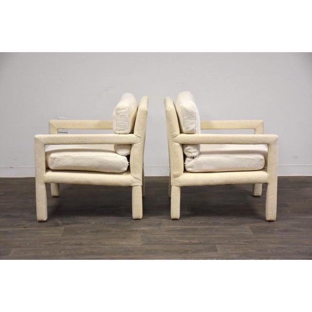 Milo Baughman for Thayer Coggin Milo Baughman for Thayer Coggin Parsons Chairs- a Pair For Sale - Image 4 of 10