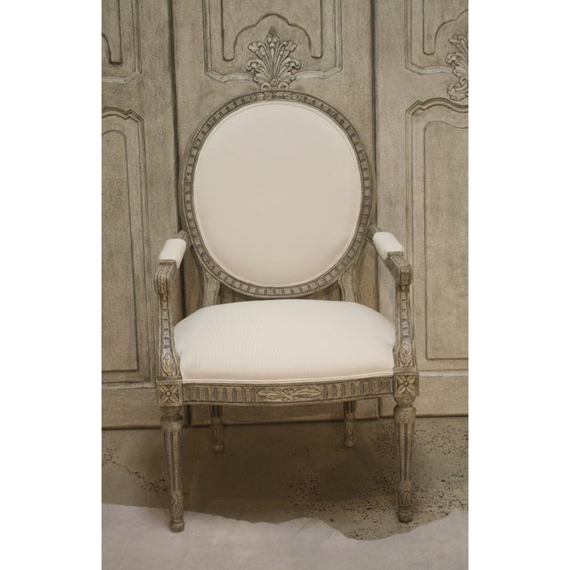 Gustavian (Swedish) Swedish Oval-Back Dining Arm Chair For Sale - Image 3 of 8