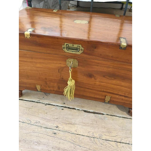 Late 19th Century British Campaign Camphor Sea Chest For Sale - Image 4 of 8