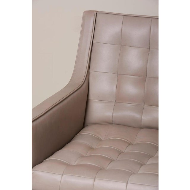 Tufted Sofa in Grey Leather by Milo Baughman for Thayer Coggin For Sale - Image 9 of 13